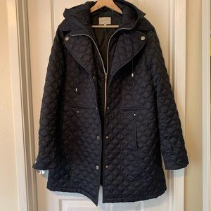 Laundry by Shelli Segal Quilted mid length coat